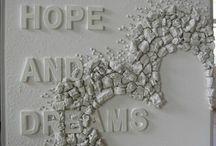 Knutselen: 3D Wand decoratie