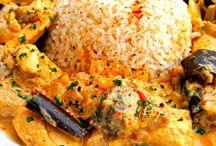 Recette / Curry poulet aubergine