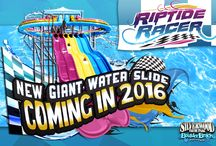 NEW Mat Racer / Boulder Beach is off to the races with our new mat racer water slide Riptide Racer!