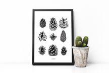 Nordic minimalistic art prints