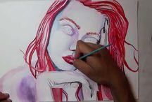 Pintei / Watercolors Aquarelas