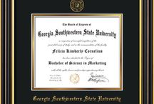 Georgia Southwestern State University - GSW - Diploma Frames & Graduation Gifts / Official GSW Diploma frames. Exquisitely crafted to exacting specifications for the GSW diploma. Custom framed using hardwood mouldings and all archival materials, including UV glass to prevent fading from sunlight AND indoor incandescent lighting! Each frame exceeds Library of Congress standards for document preservation and includes a 100% lifetime guarantee, ensuring that a hard-earned achievement will be honored and protected for generations. Makes a thoughtful and unique graduation gift!