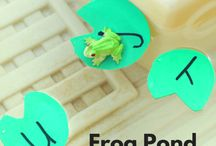"""Frogs & Pond Life / Frogs, Ducks, Fish, Turtles, Alligators and more!  Great printables, charts, and activity ideas for learning about pond life.  Activities and props for """"5 Green & Speckled Frogs"""" and """"5 Little Ducks"""".  Works well with the children's book """"The Wide Mouthed Frog."""" Perfect for parents and teachers of preschoolers!"""