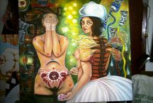 "Silvia Haydee Delgado Alvarez   Cuban painter / A Cuban women painter who live in Habana. She have make her own style in strong painting and in ""piza"" painting for turist."