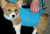 Crochet doggy sling