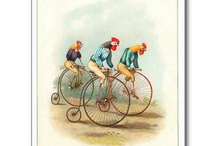 Vintage cycling rooster