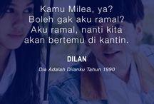 Dia Adalah Dilanku Tahun 1990 / #dilanmilea #dilan #milea #noveldilan #quotedilan Kutipan Dilan dan Milea pada novel Dilan 1990