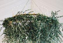 greenery chandelier