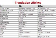 Dictionary: knitting, crochet
