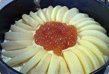 torta  di mele affondata