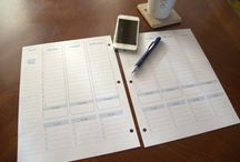 Printables and Organization / Organization and time management tools that are easy to tailor to your specific life