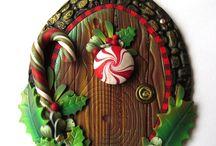 christmas fairy house door