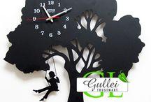 lazer cut clocks