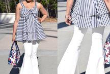 Bell bottoms and stripes / Nina ramen Nellbotro pattern & McCalls Spring top pattern