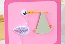 QUILLING BABY CARDS