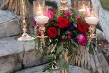 Red & Purple Wedding Decor