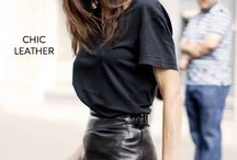 Women's fashion leather skirt