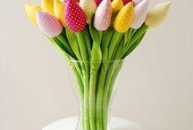 tulip flowers handmade design