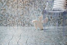 Rio / Nothing surpasses the sidewalks of Copacabana, where stone mosaics form larger-than-life abstract paintings on which locals and tourists stroll and play. Rio, a new tile pattern by Stone & Pewter Accents, reinterprets the artful sidewalks along Rio de Janeiro's most famous beach.