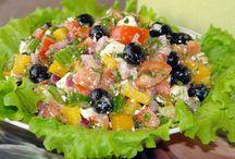Салаты с сыром и творогом / Очень вкусные салаты, и довольно таки легкие!