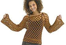 Crochet tops & cardigans