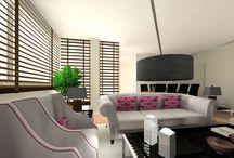 Interiores de Arqbellytura / Salón comedor