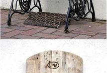 Muebles en madera y hierro