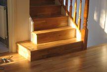 Stairs & Landings In Oak Wood Flooring / Client: Private Residence In West London. Brief: To supply & install wood flooring.