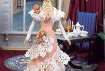 Barbie dress crochet and lace