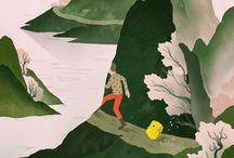 Almanac Illustrations / Organic, nature-inspired illustrations