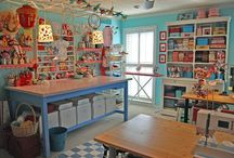 Craft rooms/ sewing, crafting, fun ideas / by Jessica McMullen