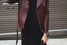 Burgundy biker