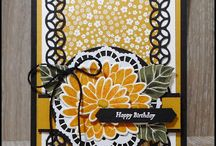 Stamping up yellow flowers