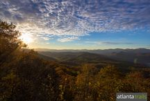 Best Fall Hiking in North Georgia: Our Favorite Trails / Our favorite fall hiking trails hike North Georgia mountain summits and creek valleys to catch views of the fall season's colorful foliage. View the full list: http://www.atlantatrails.com/georgia-hikes-fall-leaf-color-change/