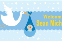 Baby Banner Templates / Customizable Baby Shower and Baby Banner Templates | http://www.banners.com/celebration-banners/baby-showers/