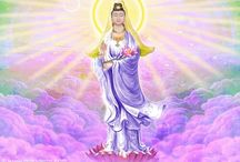 GODDESS - KWAN SHE YIN & BUDDHA                                         南無大悲觀世音菩薩 / Guan Yin Praise  Bodhisattva Guan Yin is wonderful past gratitude,  Pure and clear are her adornments, gained through practice ages long,  Sea-vast a red lotus