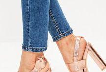 Rose Gold Block Sandals