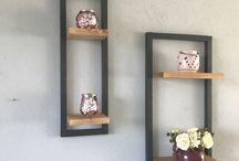 Wand rekjes van hout