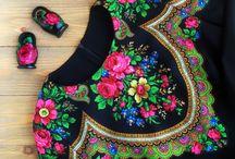dekor kleider aus russische tuch