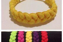 Lace shoes bracelet yellow