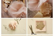 Fabric flower etc