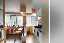 """""""Гостинка"""", Киев, ул. Телиги / Квартира общей площадью 23 м.кв. в гостинице малосемейного типа. Вся мебель корпусная и изготовлена по индивидуальному проекту. Время от начала строительных работ до заселения - 2,5 месяца."""