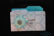 Stampin' Up!'s Festive Flurry Stamp Set / Festive Flurry Stamp Set & Framelits can be purchased as a bundle and save 15% Wood- #133284  $54.95 Clear-#133285  $46.95 / by Linda Bauwin