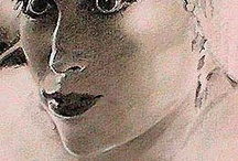 Ron Edelstein's Portrait Art / Did these sketches in the 1990's.  I love portrait work. My current photography for my company, New Attitude Wigs, www.newattitudewigs.com, gives me the opportunity to light and style portraits on beautiful wigs, many of which are my personal creations.