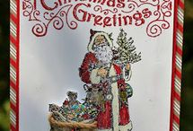 Karten - Father Christmas - Stampin ' Up