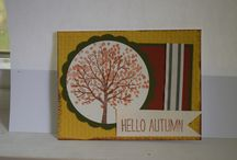 Fall/Autumn / Enjoy the changing of the season with beautiful greeting card.  Think of the fall leaves changing color,  apples, and the crisp fall air.