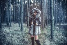 Winter wind 2016 / Fur coat, fur vest  & leathers dresses, shorts, blouses and skirts. Accessories with furs.