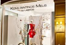 Melis by Laskos Xmas decoration '12 by Elite Events Athens / Following the IDIOSYNCRASY concept of Konstantinos Melis & Yiannis Laskos fashion show 2012, Elite Events Athens team decorated the window display of their marvelous atelier in Athens for Christmas of 2012.