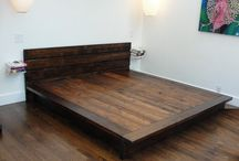 Rustic platform beds