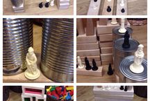 Chess pieces added to construction
